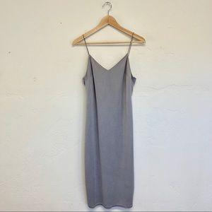Topshop Gray Spaghetti Strap Dress